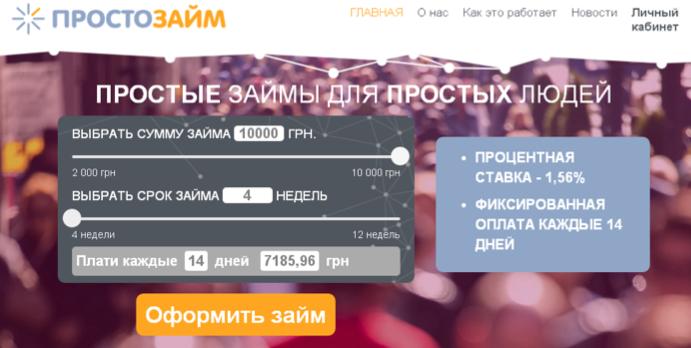 просто займ онлайн заявка личный русфинанс кредит нижний